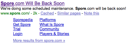 Spore a Google
